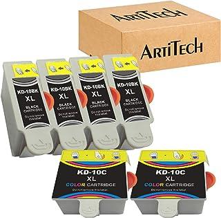 بدائل لخرطوشة الحبر المتوافقة مع Kodak 10XL 10B 10C (4 أسود، ولونان) تستخدم لكاميرا Kodak 5100 5300 5500 ESP3250 ESP5250 E...