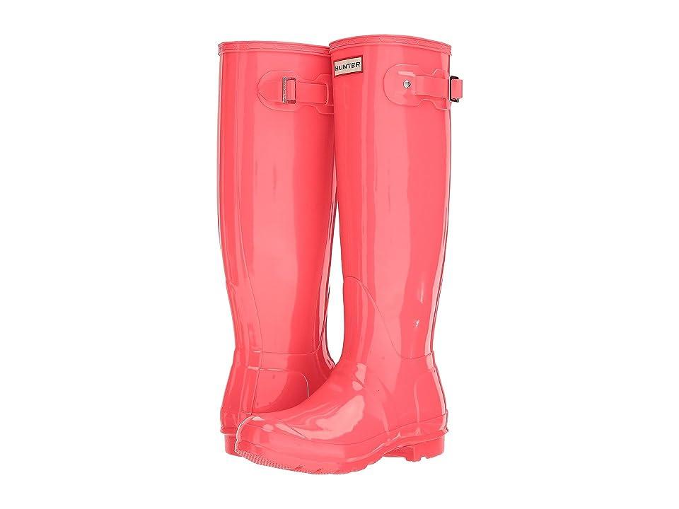 Hunter Original Tall Gloss Rain Boots (Hyper Pink) Women