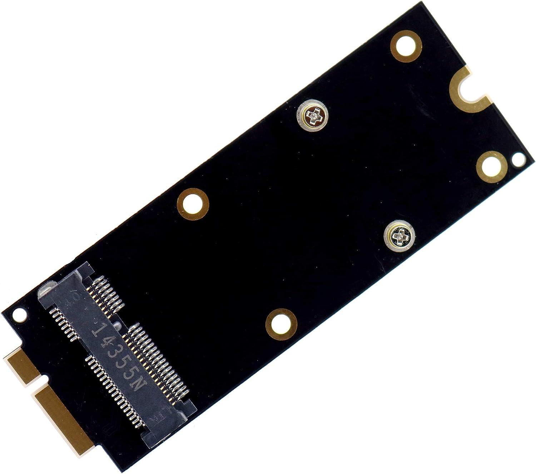 Deal4GO nVME NGFF 2230 2242 2260 M.2 SSD mSATA Hard Drive Adapter Card for MacBook A1398 A1425 2012/iMac A1418 A1419 2012