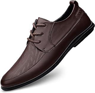 DADIJIER Oxfords Zapatos para Hombres Delantal Toe 3-D Patten en Relieve 3-Ojo Encaje hacia Arriba Costura Redondo Toe Blo...