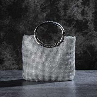 NSHUN Sparkle Clutch Evening Bag, Elegant Womens Handbag Crystal Rhinestone Evening Clutch Bags Party Wedding Purses Handbag