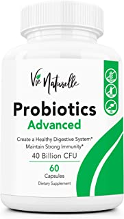 Acidophilus Probiotics for Women, Men, and Kids - 40 Billion Vegan Friendly Lactobacillus and Bifidobacterium Daily Probiotic Supplement for Weight Loss and Gut Health - 60 Capsules