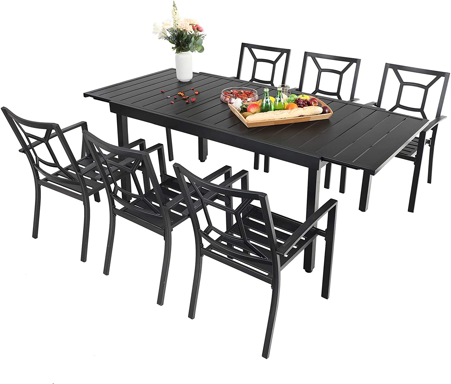 low-pricing Sophia William Expandable Patio Dining Set Tabl Metal Outdoor Special sale item