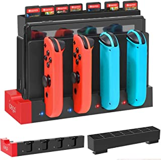 Charging Dock for Nintendo Switch Joy-Cons with Game Cards Holder, YUANHOT Upgraded Compact Charging Station Stand for Swi...