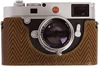 Cam-in Professional Leica M10 Real Leather Woven Aviation Aluminum Camera Half Case Protector (Brown)