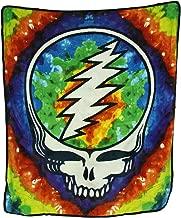Zeckos Grateful Dead Tie Dye Steal Your Face Skull Throw Blanket