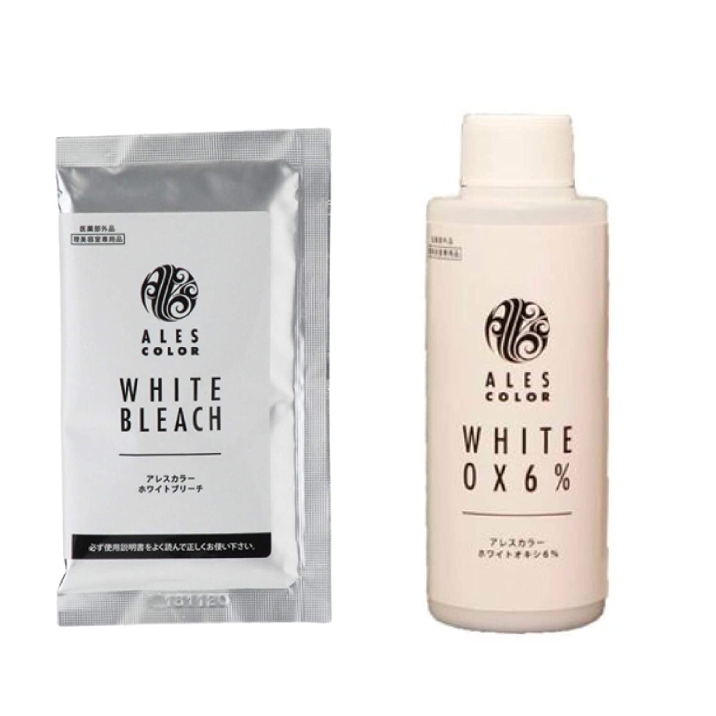 アレスカラー ホワイトブリーチ セット(1剤) 30g ホワイトオキシ6% 120ml