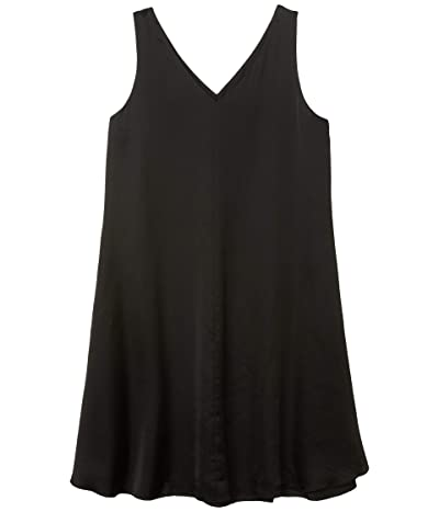 Eileen Fisher V-Neck Bias Dress (Black) Women