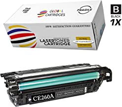 GLB Premium Quality Remanufactured Replacement for HP 647A Black CE260A Toner Cartridge For HP Color LaserJet Enterprise CP4525xh, CP4025n, CP4525n, CP4025dn, CP4525dn Printers