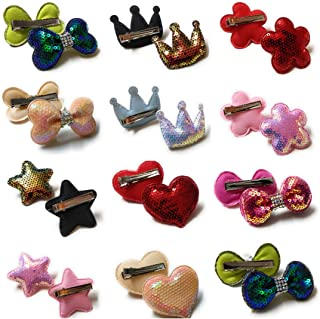 Mom's Darling Stylish Hair Accessories, Hair Bows, Sequins Bows with Alligator Clip/ Hair Clips/ Hair Pins For Baby/ Kids/...