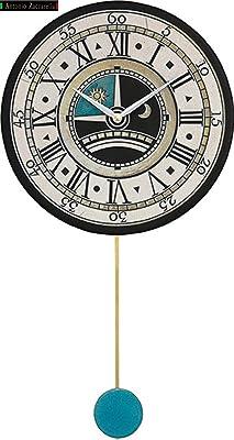 リズム時計工業(Rhythm) 掛け時計 白 65.6x35x6cm ザッカレラ Z180 イタリア製陶器枠 ルート限定モデル ZC180-003