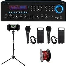 Technical Pro RX55URIBT 1500W Karaoke Bluetooth Receiver+USB/SD/EQ+Mics+Stand