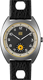 Roue SSD One Watch with Seconds Sub dial, 1960s Racing Style, 41.5mm Sand Blasted Black PVD case, Soft Leather + Nylon Front/Leather Back Straps, Sapphire Crystal with Anti-Reflective Treatment Glass