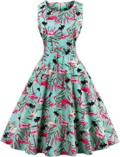 6c609c82454 FAIRY COUPLE 50s Vintage Retro Floral Cocktail Swing Party Dress with Bow  DRT017