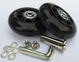 2 Set of Luggage Suitcase Replacement Wheels with ABEC 608zz Bearings, Packaged with our own designed bag Logo