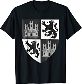 Castile and Leon Coat of Arms T-Shirt Spanish Spain Crest