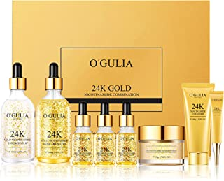 Luxurious Private Label Beauty Skin Care organic Cosmetic Bag 8Pcs Face 24K The Collection for Every Skin Condition Day to...