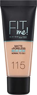 Maybelline New York Fit Me Matte & Poreless Foundation 115 Ivory 30ml