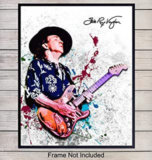 Stevie Ray Vaughan Unframed Wall Art Print - Great Gift for Music and Rock n Roll Fans - Cool Steampunk Home Decor - Ready to Frame (8x10) Vintage Photo