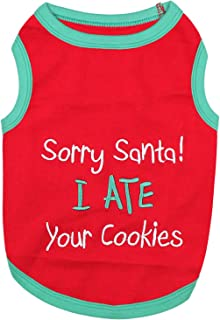 sorry santa i ate your cookies dog shirt