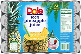 Dole Juice, Pineapple, 8.4 Ounce Cans (Pack of 24)