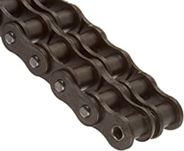 0.469 Roller Diameter 1//2 Roller Width Riveted Carbon Steel 3//4 Pitch HKK RC060R2AB ANSI 60 Double Strand Roller Chain 20 Foot Length