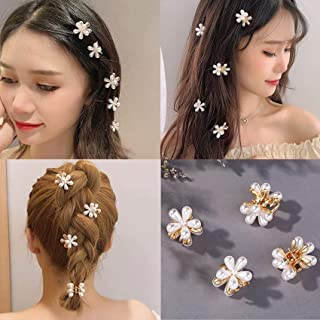 2 Pack Pearl Catch Clip Gold,Non Slip Ponytail Hair Claw for Women Girl, Bath Hair Clips,Wedding Party Hair Accessories Va...