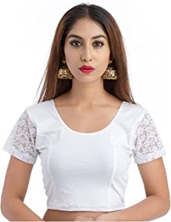 eb3ecaa5bb29a4 Fressia Fabrics Women's Stretchable Readymade Saree Blouse Crop Top Choli