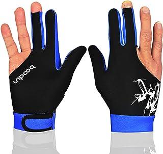 MIFULGOO Man Vrouw Elastische 3 Vingers Show Handschoenen voor Biljart Shooters Carambole Pool Snooker Cue Sport - Draag a...