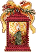 Christmas Lantern Beaded Counted Cross Stitch Ornament Kit Mill Hill 2019 Winter Holiday MH181934