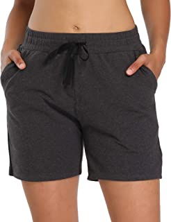 """CQC Women's Active Yoga Lounge Bermuda Shorts Athletic Workout Running Pants 5""""/10""""/19"""" with Pockets"""