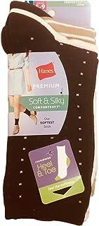 Hanes Women's ComfortSoft Cushion Crew Socks 3-Pack Sockshosiery