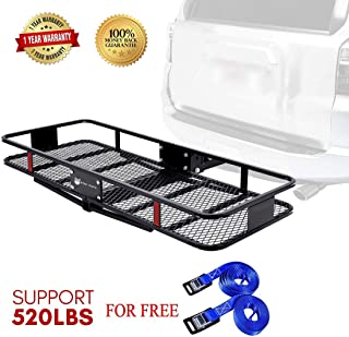 Stay There Hitch Mount Cargo Basket Steel Cargo Carrier for Vehicles with 2