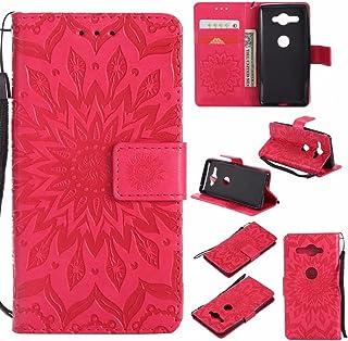 cd588aa7d24 HHF teléfono Accesorios para Sony XZ2 Compact, Sun Flower Printing Design  PU Funda de Piel