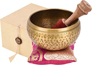 "Silent Mind Tibetan Singing Bowl–4""singing bowl set singing bowl mallet meditation sound bowl musical instrument for stress relief and meditation music"