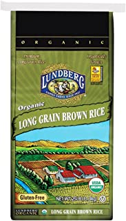 Lundberg Family Farms Organic Long Brown Rice, 400 Ounce (Pack of 1)