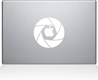 """The Decal Guru 2056-MAC-13P-W Camera Shutter Decal Vinyl Sticker, White, 13\"""" MacBook Pro (2015 & Older)"""