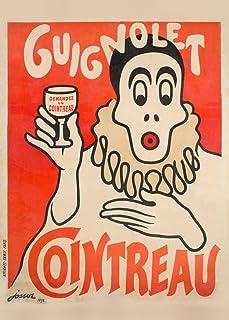 Vintage Cervezas, vinos y licores COINTREAU GUIGNOLET, Francia c1898250gsm Brillante Art Tarjeta A3reproducción de póster