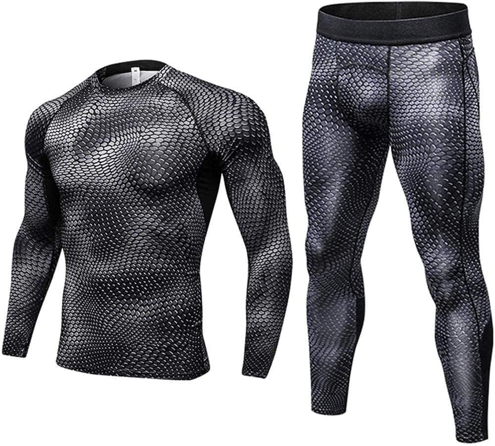 Fashion thermal underwear Thermal Underwear Men Set Long Sleeve Breathable Base Layers Lightweight And Comfortable For Outdoor Winter Activities Including Skiing Hiking ( Color : D , Size : XX-Large )