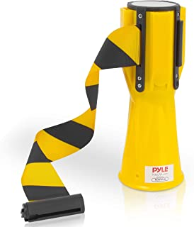 Pyle Retractable Traffic Cone Hazardous Caution Tape Style, Warning/Emergency Belt, Magnetic & Weather Resistant Design, I...