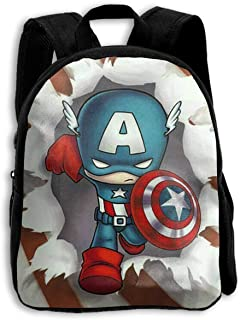 CHLING Kids Backpack Captain America with USA Flag Print Childrens School Bag Teenager Bookbag for Boys Girls