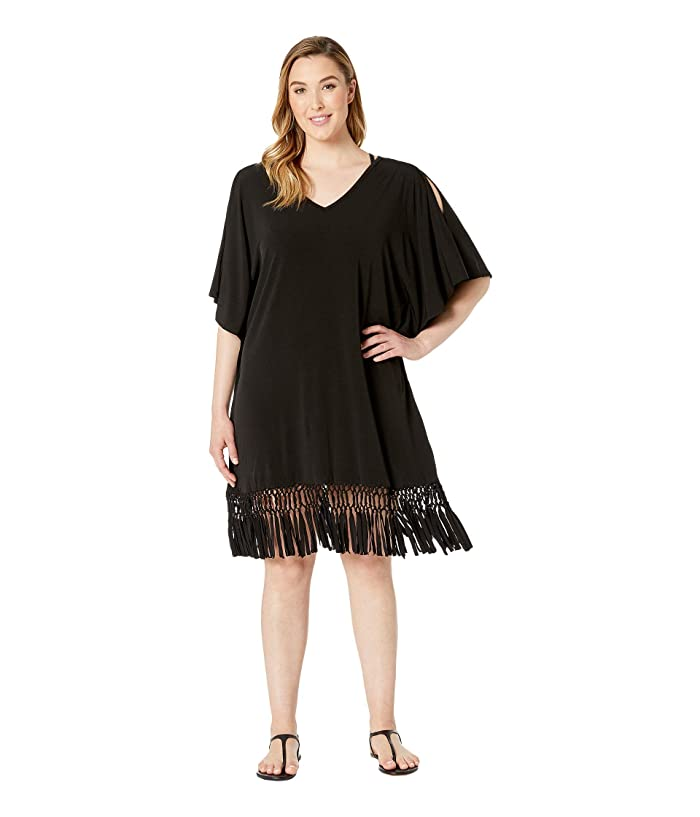 DOTTI Plus Size Sahara Summer Tunic Cover-Up (Black) Women