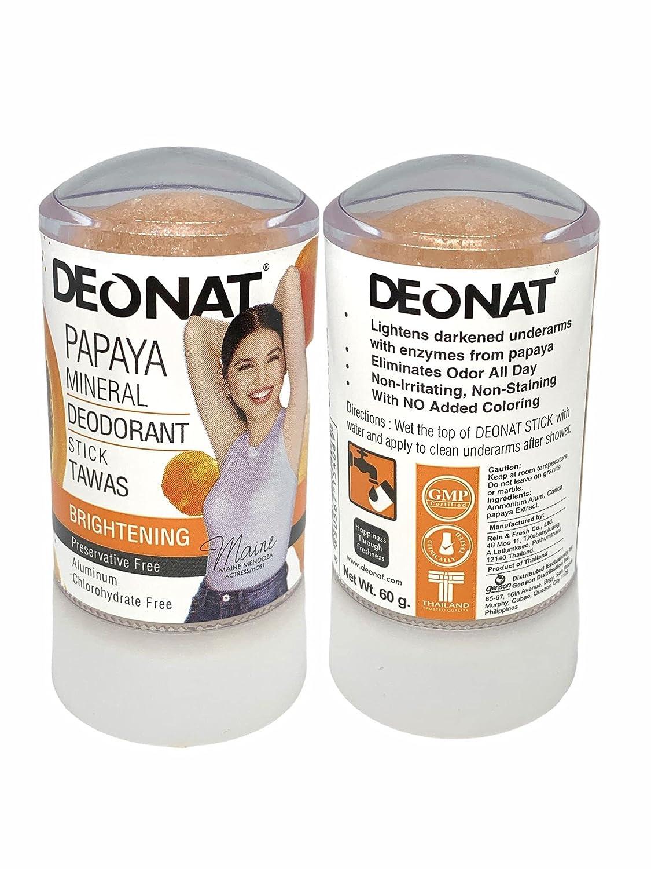 Deonat Papaya Max 69% OFF Max 41% OFF Mineral Deodorant Stick 60g Tawas