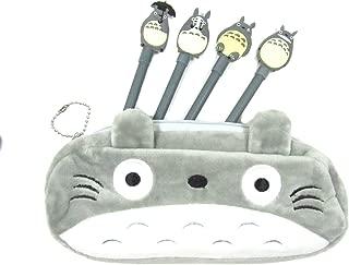 My Neighbor Totoro Pen Bag Pencil Case with 4 Totoro Pens