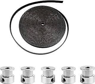 JZK 5 meter GT2 distributieriem 6mm breedte en 5 stuks GT2 distributieriemschijf 16 tanden 5mm boring voor 3D printer, 2GT...
