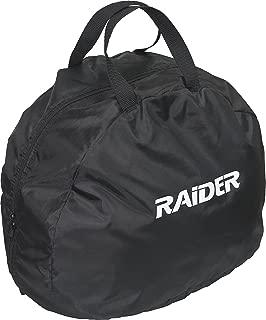 Raider BCS-8B Durable Deluxe Nylon Motorcycle Helmet Bag, Black