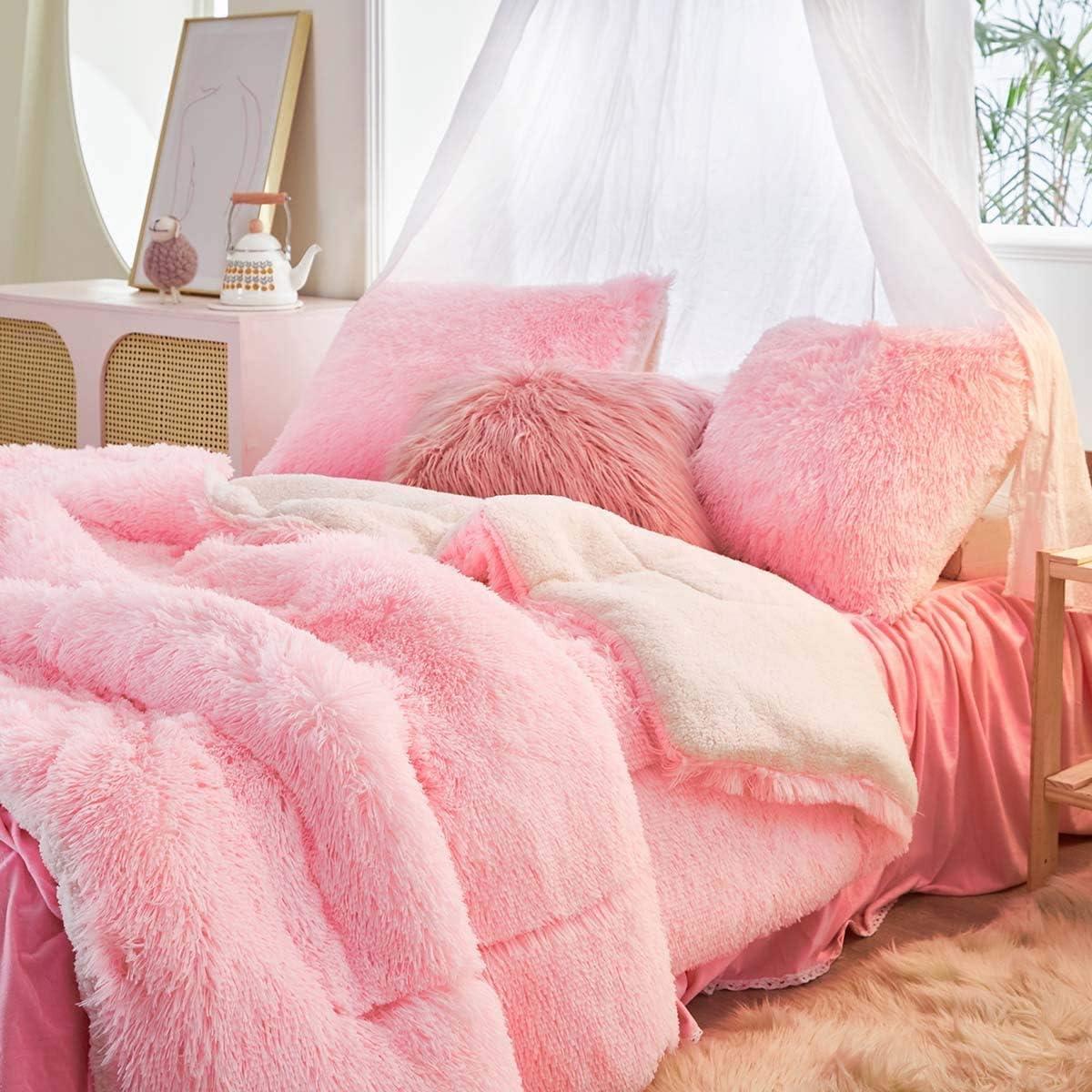 Genuine Free Shipping Rare Uozzi Bedding Faux Fur Comforter Set 3 Pieces 1 - Twin