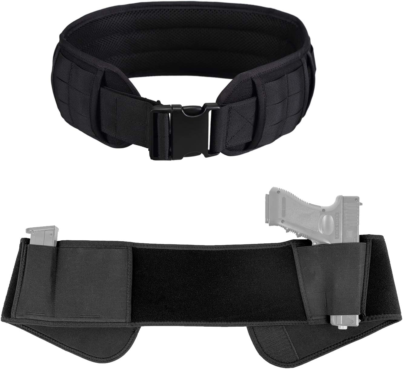 OneTigris Padded Patrol Belt Belly Max 79% OFF Band Our shop most popular Holster