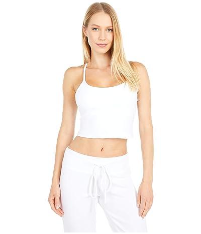 Beyond Yoga Spacedye Slim Racerback Cropped Tank Top (Cloud White) Women