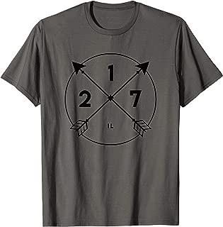 Illinois Area Code Shirt 217 State Pride Souvenir Gift Arrow T-Shirt